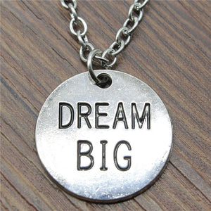 WYSIWYG Dream Big Round Plate Pendant