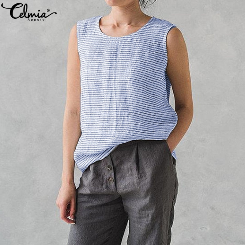 Celmia Ladies Oversized Tank Top