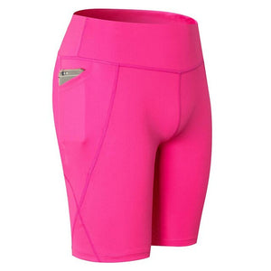 Ladiesand Teens Hot Gym and Yoga Breathable Shorts With Phone Bag