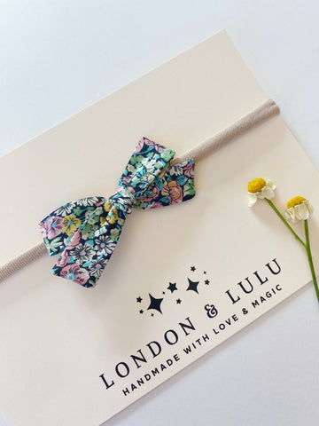 Chive black & Pastels Liberty of London bows
