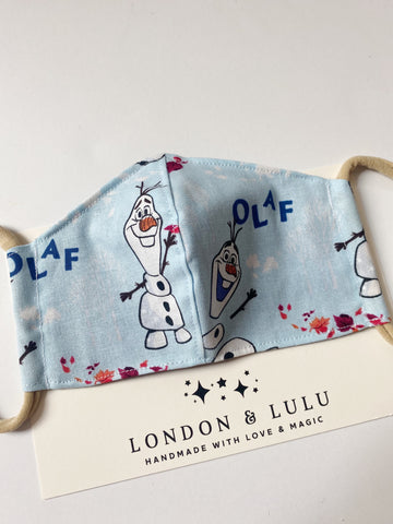 Olaf blue frozen neutral face masks