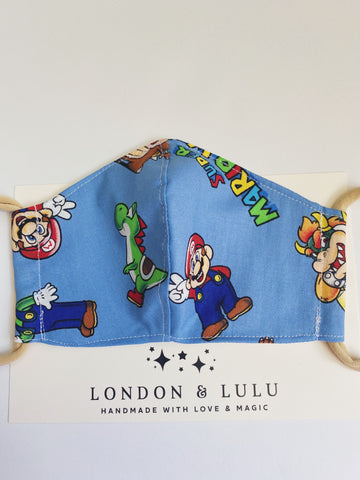 Super Mario World blue Face mask