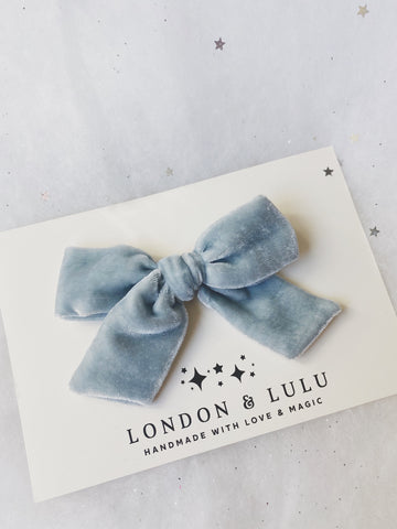 Ice Princess silk velvet bows