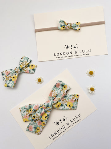Rifle paper co Lemon & Pink Rosa bows