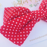 Vintage Red Swiss dots bow