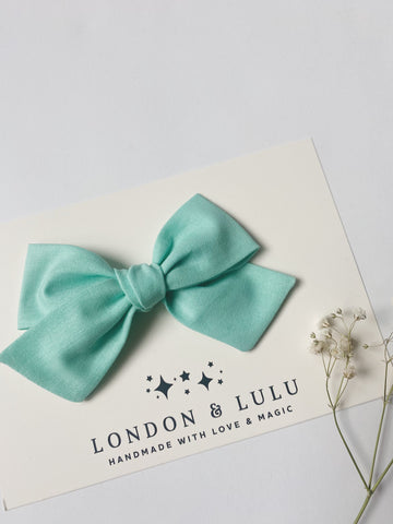 Vintage Mint cotton bows