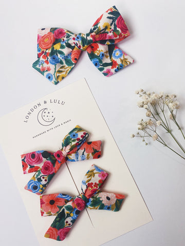 Rifle Paper co Garden Party cotton bows