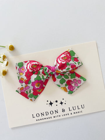 Betsy Hot Pink & Red Liberty of London bows