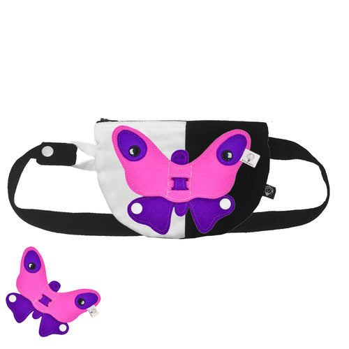 3D SET - Circle belly/back bag with 3D TOY