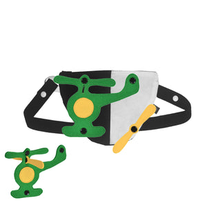 3D SET - Triangle belly/back bag with 3D TOY
