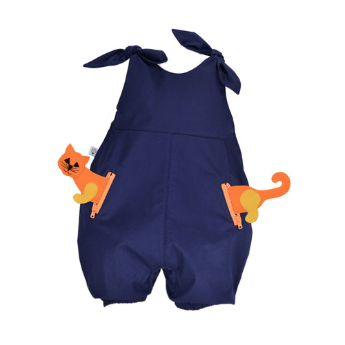 POCKET SET - Overall with ANIMAL Toy - Royal