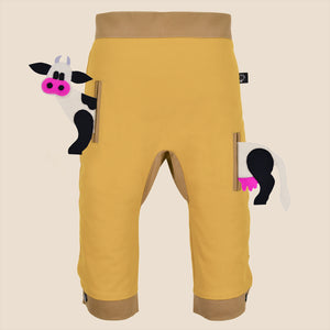 POCKET SET - Trousers duo colori with ANIMAL Toy - Mustardino