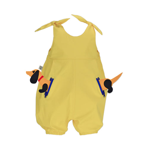 POCKET SET - Overall with ANIMAL Toy - Sunshine