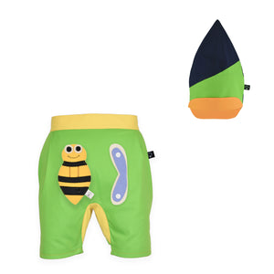 BUNGO SET - Short pants with 3D toy and pixie hat