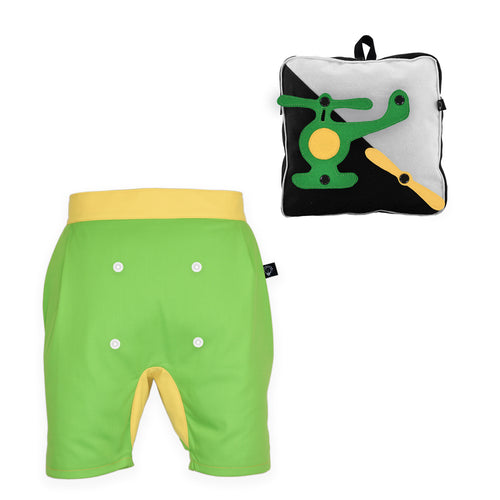 BUNGO SET - Short pants with 3D backpack