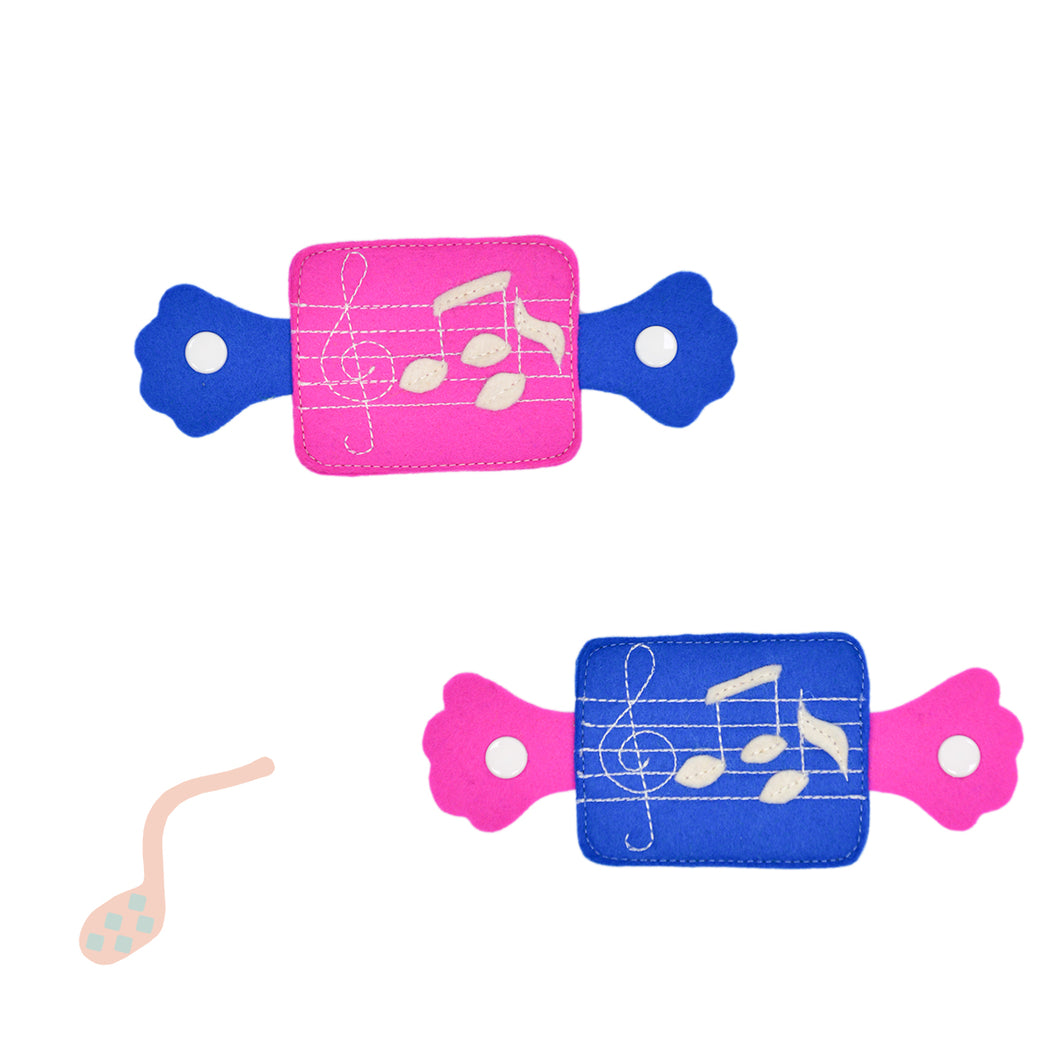 Knee pads - Pink & Blue Notes