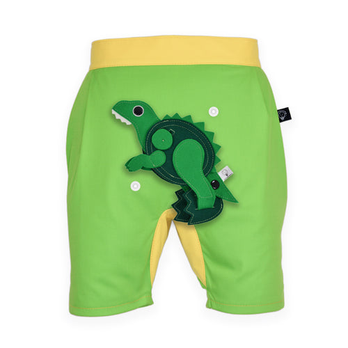 DINO SET - Green short pants with DINO Toy