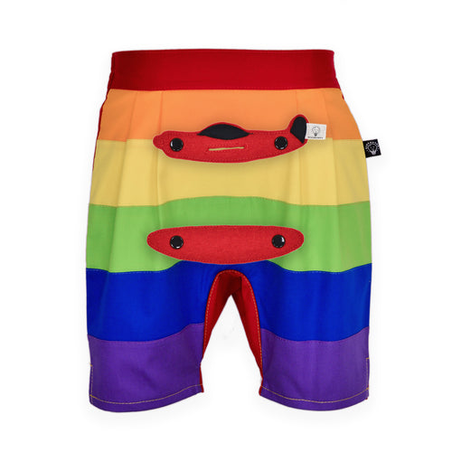 3D SET - Rainbow short pants with 3D Toy