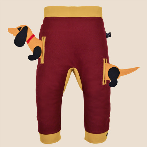 POCKET SET - Trousers duo colori - Bordeaux love