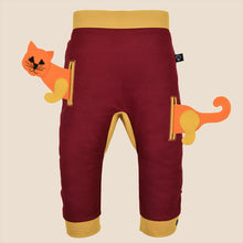 Load image into Gallery viewer, POCKET SET - Trousers duo colori with ANIMAL Toy - Bordeaux love