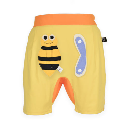 3D SET - Yellow short pants with 3D Toy