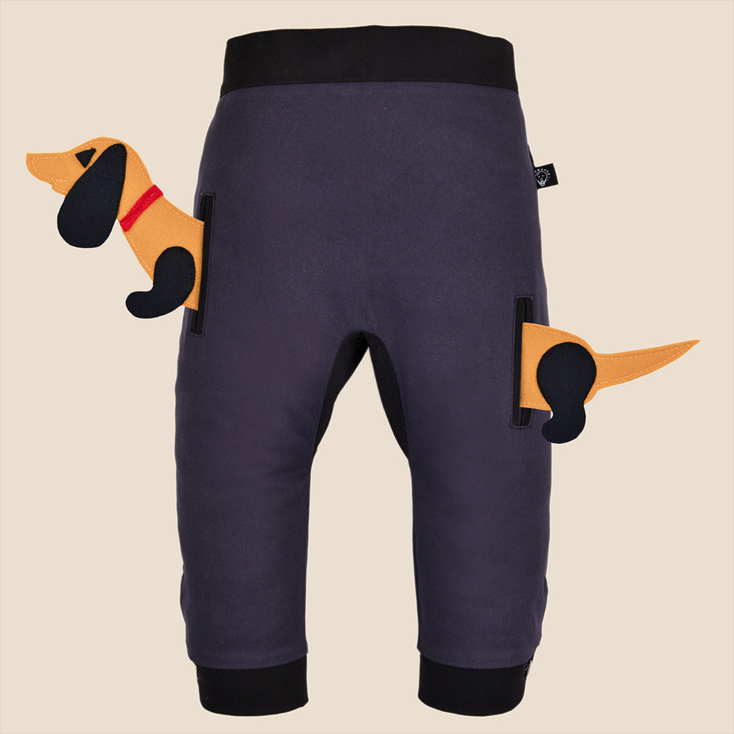 POCKET SET - Trousers duo colori with ANIMAL Toy - Greyish beauty