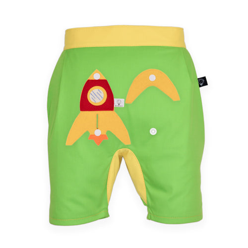 3D SET - Green short pants with 3D Toy