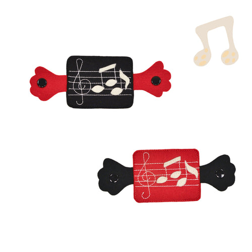 Knee pads - Red & Black Notes