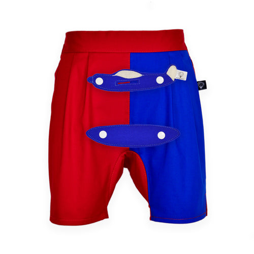 3D SET - Red and blue short pants with 3D Toy
