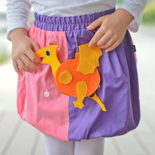 Load image into Gallery viewer, DINO SET - Rosa & lila skirt with DINO Toy