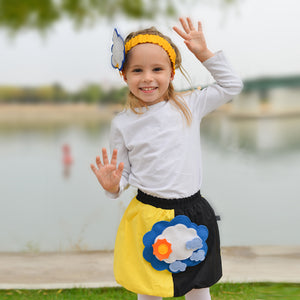 STORMY SET - Yellow & black skirt with STORMY Toy