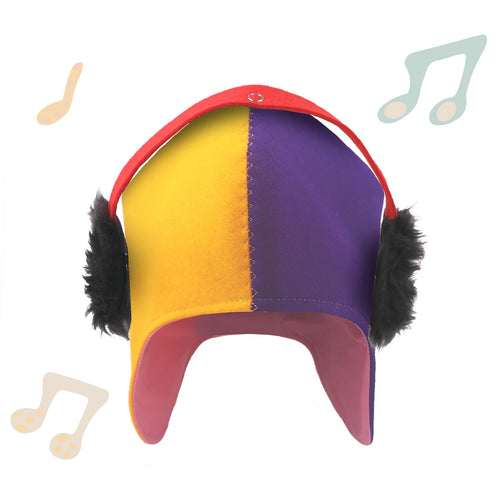 Winter Cap - DJ yellow and purple