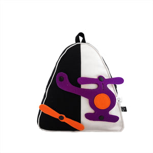 3D SET - Triangle Backpack with 3D TOY