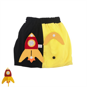 3D SET - Yellow & black skirt with 3D Toy