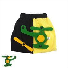 Load image into Gallery viewer, 3D SET - Yellow & black skirt with 3D Toy