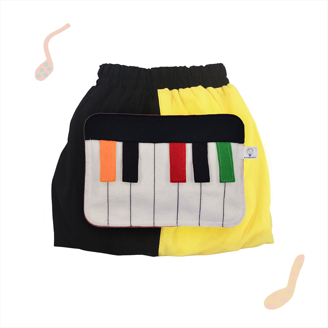 BAND SET - Yellow & black skirt with BAND Toy