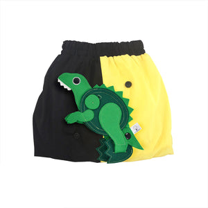 DINO SET - Yellow & Black skirt with DINO Toy