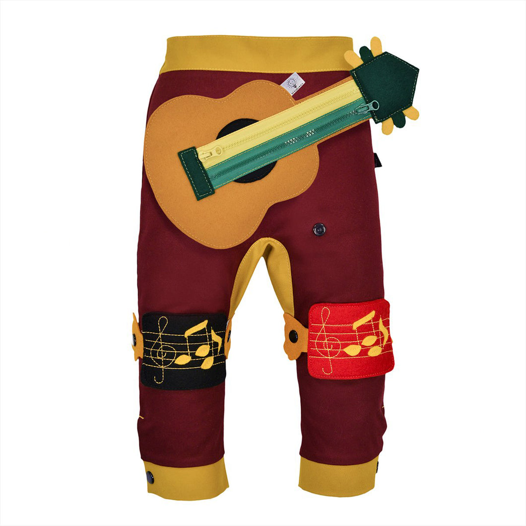 BAND SET - Trousers duo colori with BAND toy - Bordeaux love