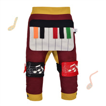Load image into Gallery viewer, BAND SET - Trousers duo colori with BAND toy - Bordeaux love