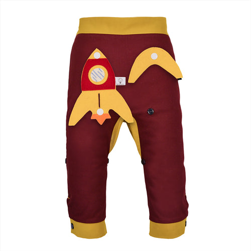 3D SET - Trousers duo colori with 3D Toy - Bordeaux Love