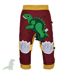 DINO SET - Trousers duo colori with DINO Toy - Bordeaux love