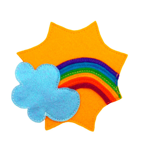 Cap / headband applique - RAINBOW