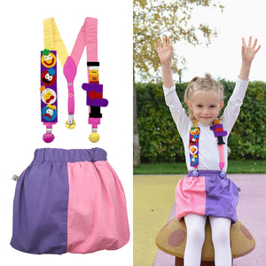 BUNGO SET - Fluffy skirt with Interactive suspenders