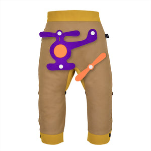 3D SET - Trousers duo colori with 3D Toy - Beige beige Baby
