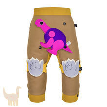 Load image into Gallery viewer, DINO SET - Trousers duo colori with DINO Toy - Beige beige baby