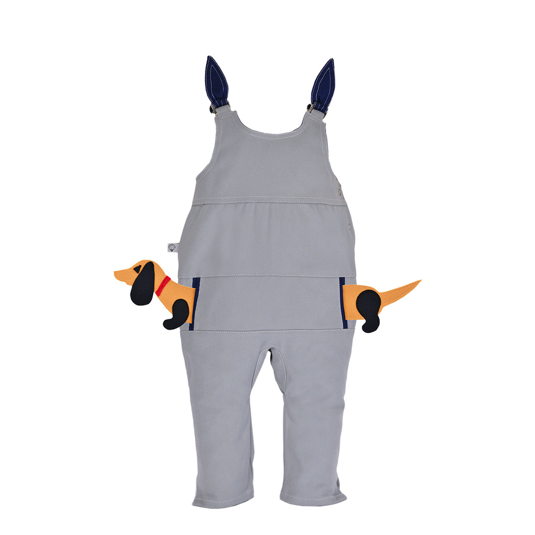 POCKET SET - Overall with ANIMAL Toy - Cutie Pie