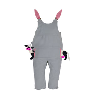 POCKET SET - Overall with ANIMAL Toy - Honey Bunny