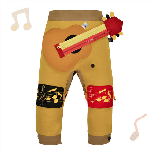 BAND SET - Trousers duo colori with BAND toy - Mustardino