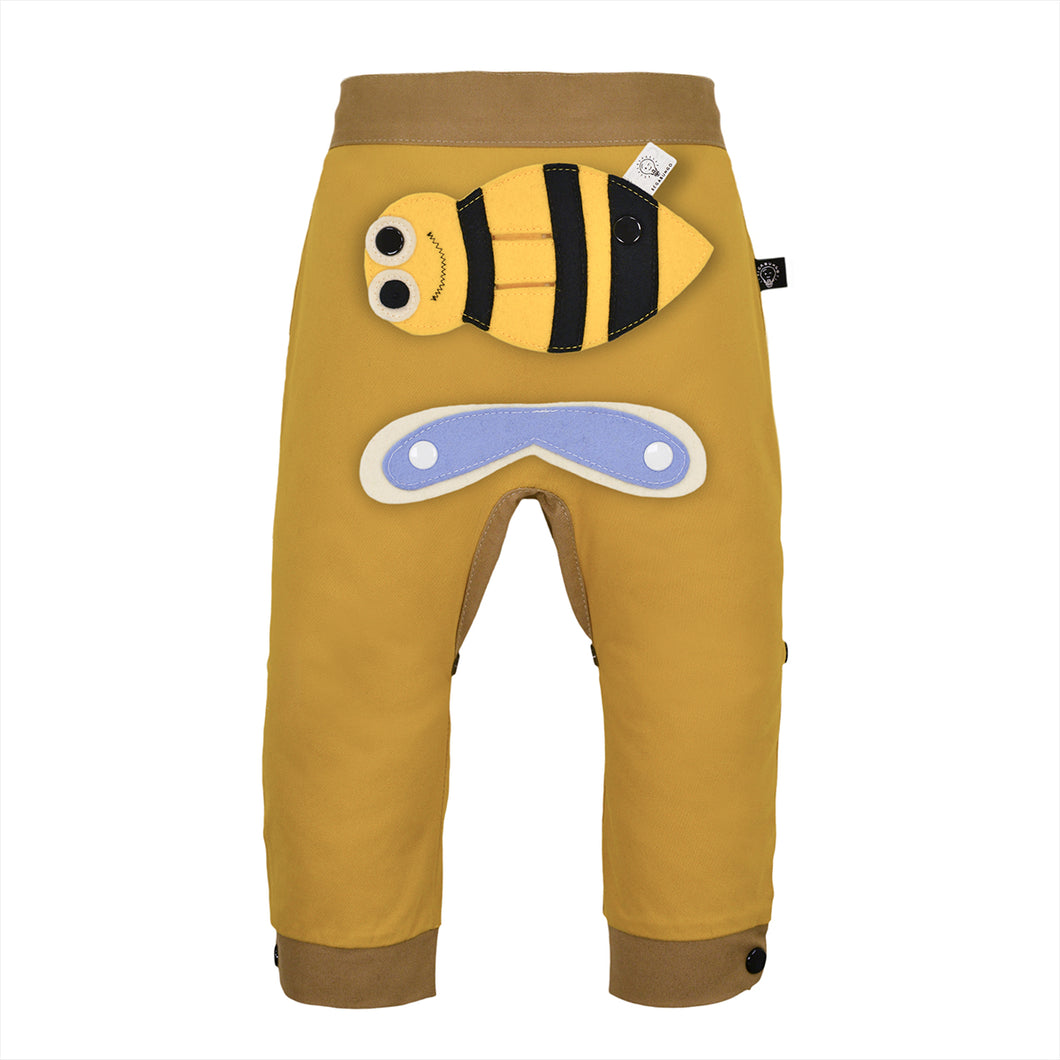 3D SET - Trousers duo colori with 3D Toy - Mustardino