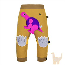 Load image into Gallery viewer, DINO SET - Trousers duo colori with DINO Toy - Mustardino